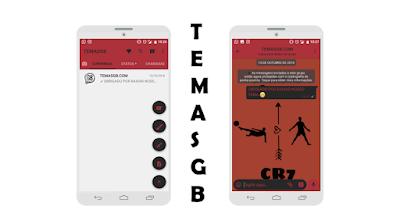 BAIXAR TEMAS GBWHATSAPP - CR7 RED