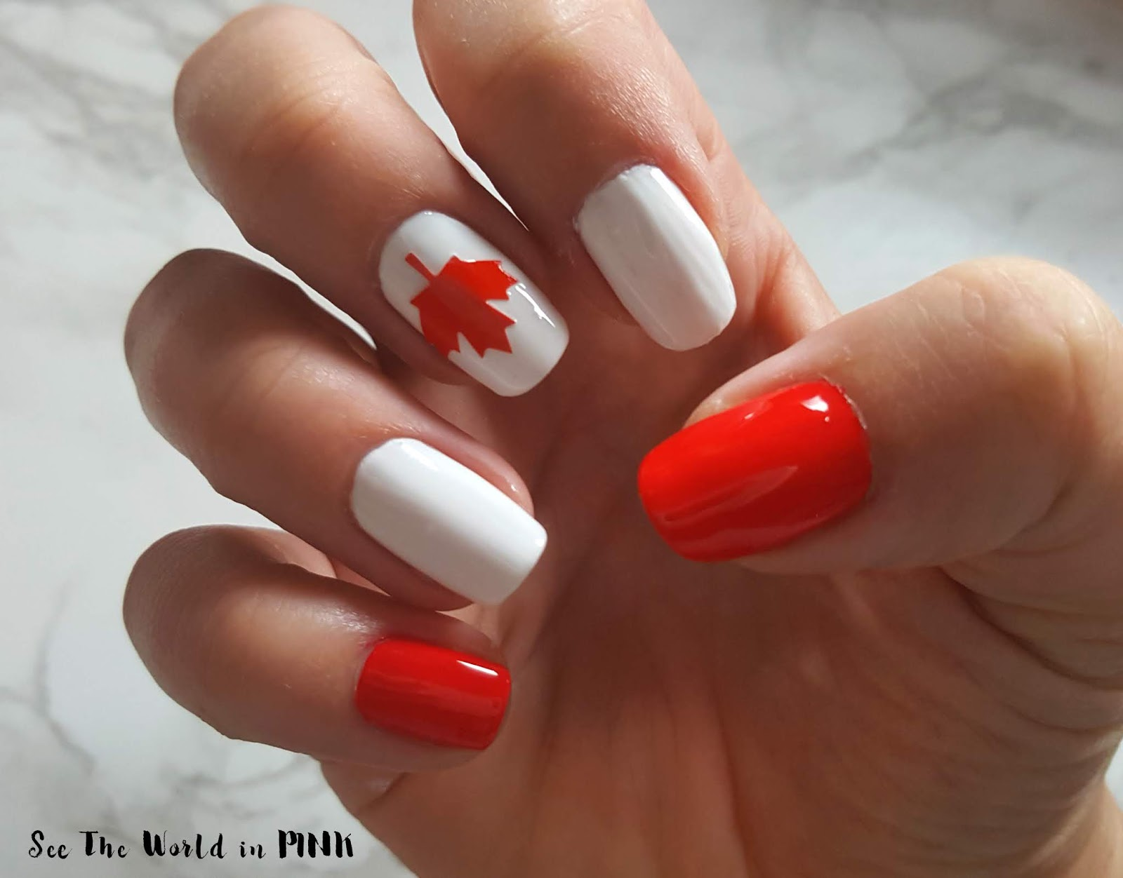 Manicure Monday - Canada Flag Nails!