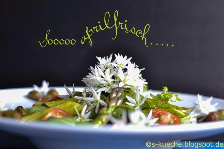 Bärlauchblüten Salat