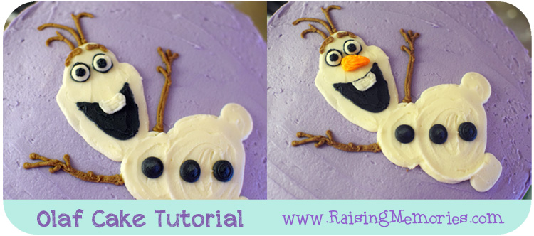 DIY Frozen Cake with Olaf