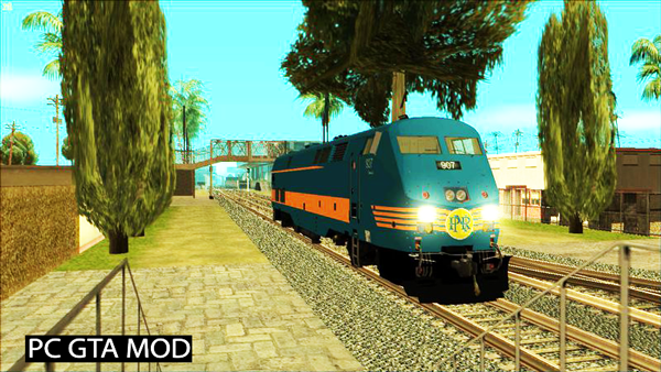 Free Download G.E P42DC (P.N.R Blue-Orange Stripe 2012 Livery) Mod for GTA San Andreas.