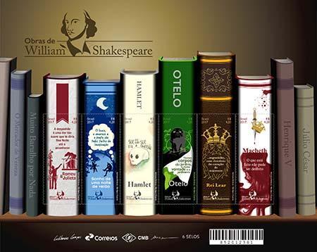 Filatelia│Justa homenagem a William Shakespeare em selos dos Correios