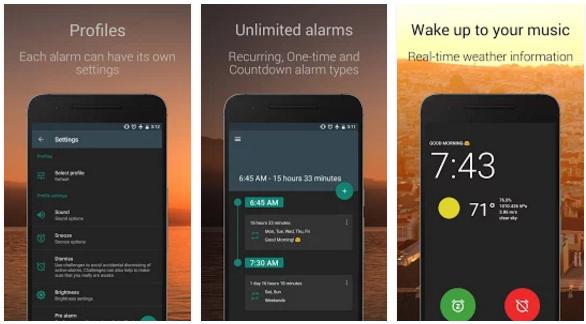 أفضل تطبيقات تساعد على تنظيم الوقت للدراسة للأندرويد - تطبيق Alarm Clock for Heavy Sleepers