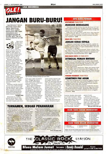 SEPAKBOLA NASIONAL LIGA INDONESIA 1998