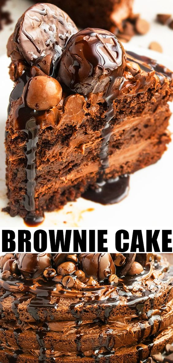 EASY BROWNIE CAKE RECIPE