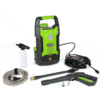 Electric Pressure Washer: GreenWorks GPW1501 13 amp 1500 PSI 1.2 GPM