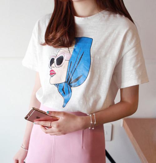 Textured Print T-Shirt
