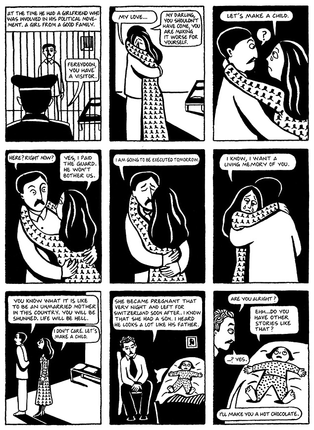 Read Chapter 8 - Moscow, page 56, from Marjane Satrapi's Persepolis 1 - The Story of a Childhood