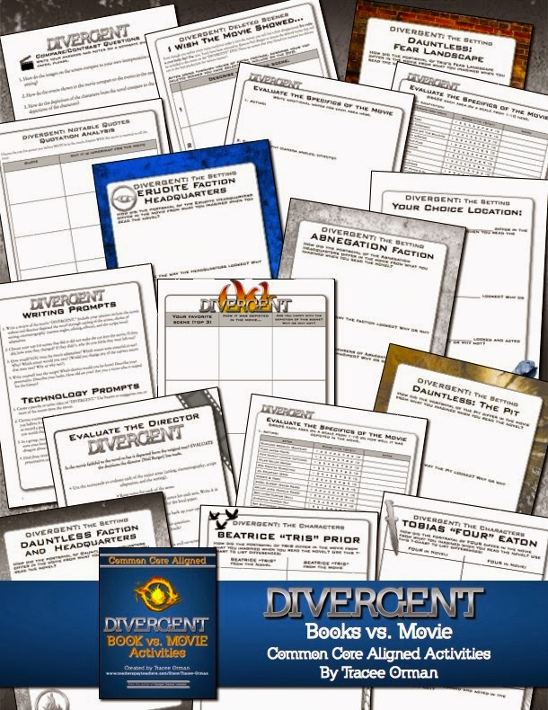 Do you need Divergent teaching materials? Click for blog post on www.hungergameslessons.com
