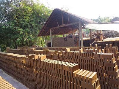 pembuatan bata merah