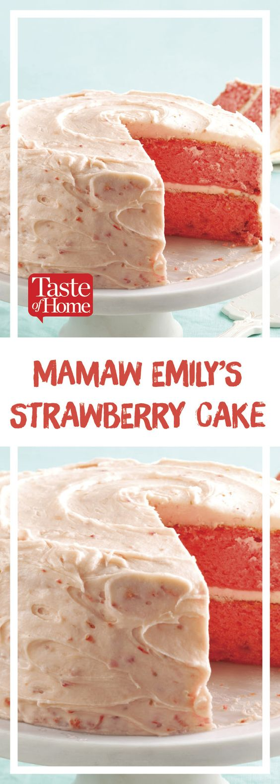Mamaw Emily's Strawberry Cake #strawberry #cake #cakerecipes #dessert #dessertrecipes #easydessertrecipes