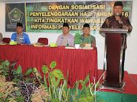 Kakankemenag Lubuklinggau Buka Sosialisasi Penyelenggaraan Haji Angkatan II