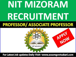 National Institute of Technology, Mizoram Recruitment 2019