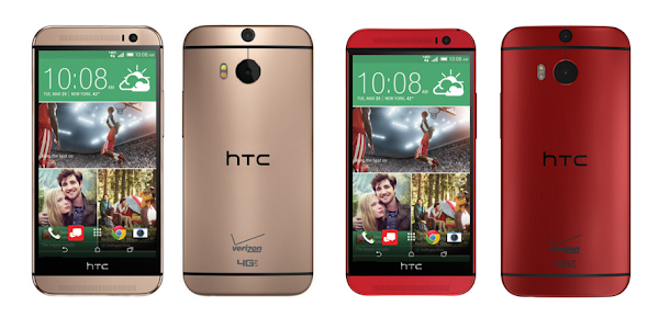Verizon announces HTC One M8 in Amber Gold and Glamour Red