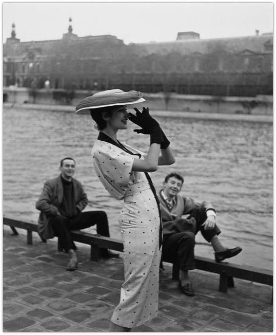 paris huth walde retro symphony seine lanvin lison 1956 wearing