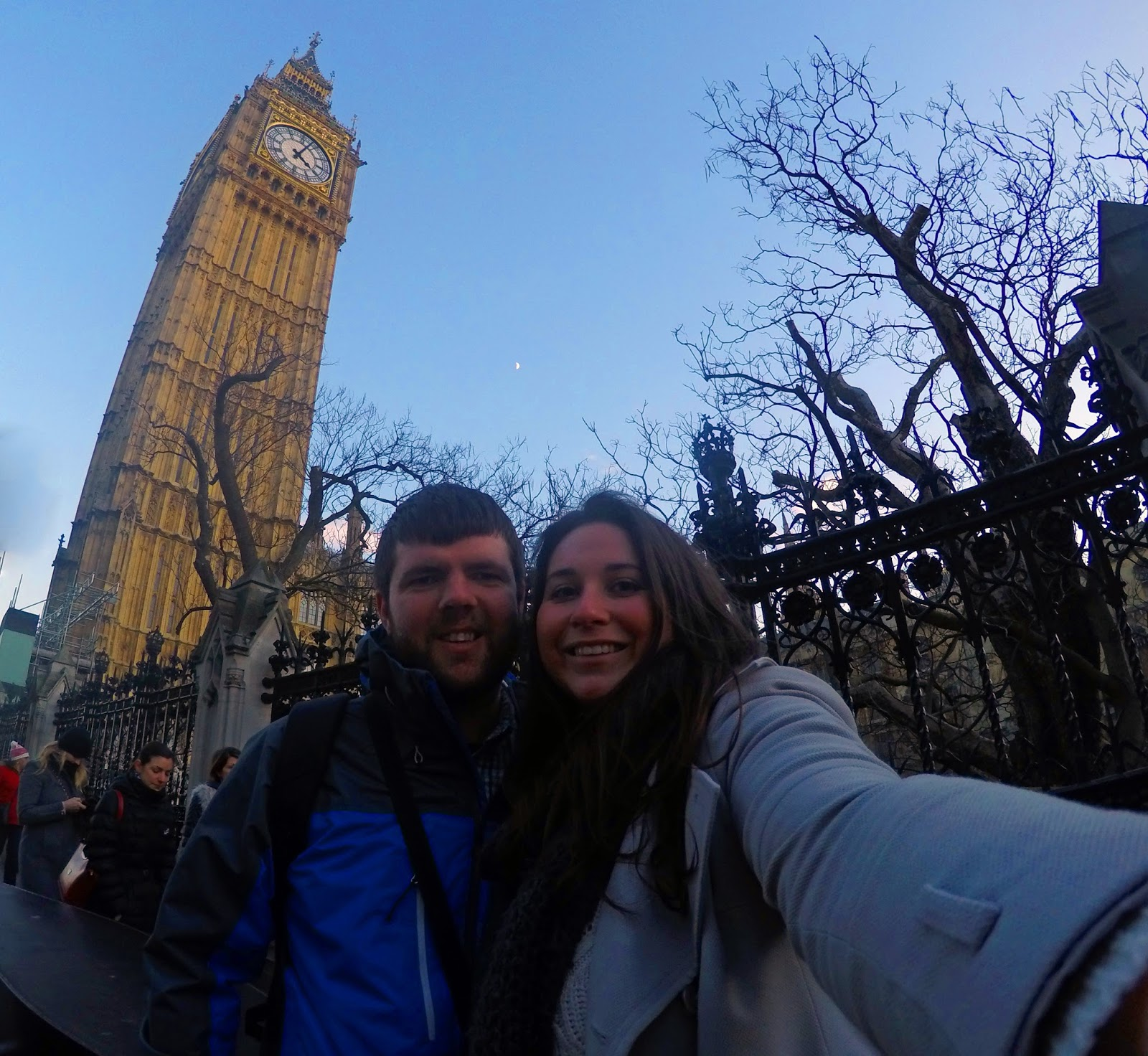 Couple at Big Ben in London
