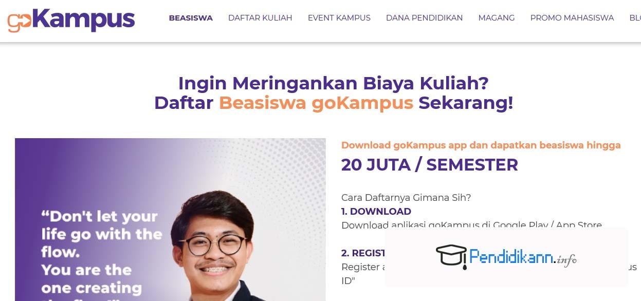 Info Pendaftaran Beasiswa GoKampus Terbaru