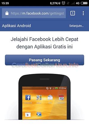 login facebook dengan nomor hp