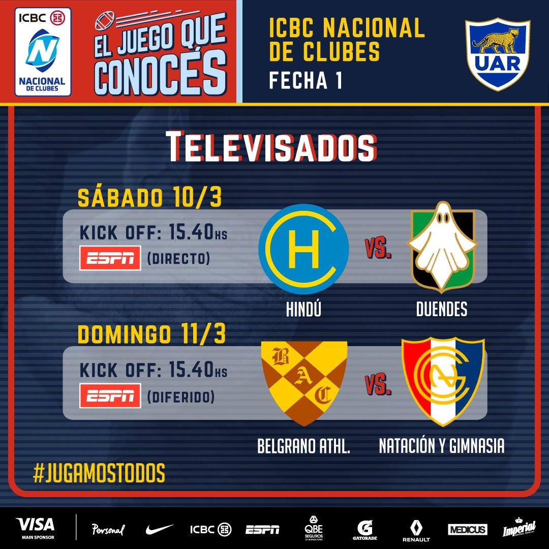 Belgrano - Natación y Gimnasia (en vivo, Nacional de Clubes, ESPN Extra).