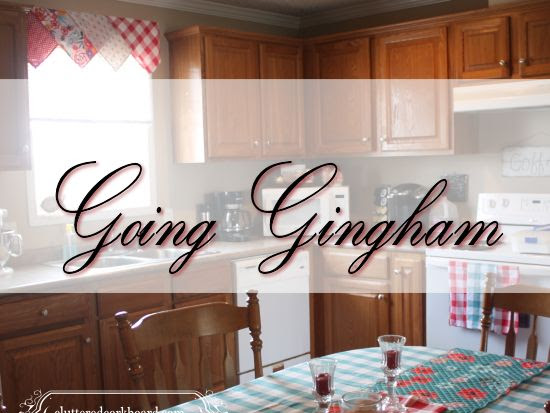 Going Gingham in the kitchen