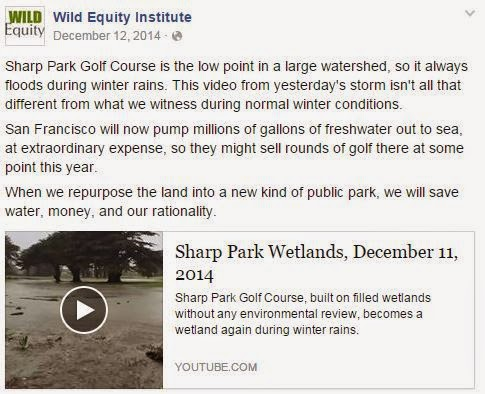 Idiotic Wild Equity Institute FB post