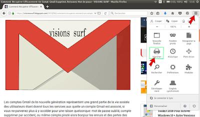 Enregistrement des pages web en pdf dans firefox sur linux
