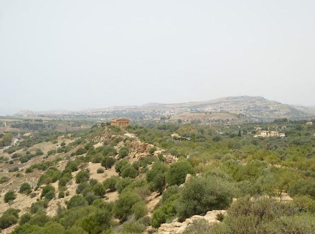veduta sulla valle dei templi dal tempio di giunone