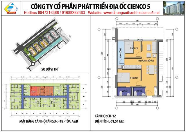 Sơ đồ thiết kế căn 12 chung cư B2.1 HH02A&B Thanh Hà Cienco 5