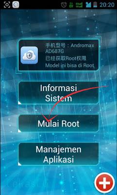 Cara Root Smartfren Andromax G