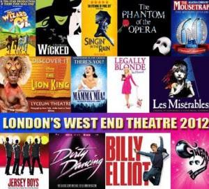 cartazes de musicais em Londres