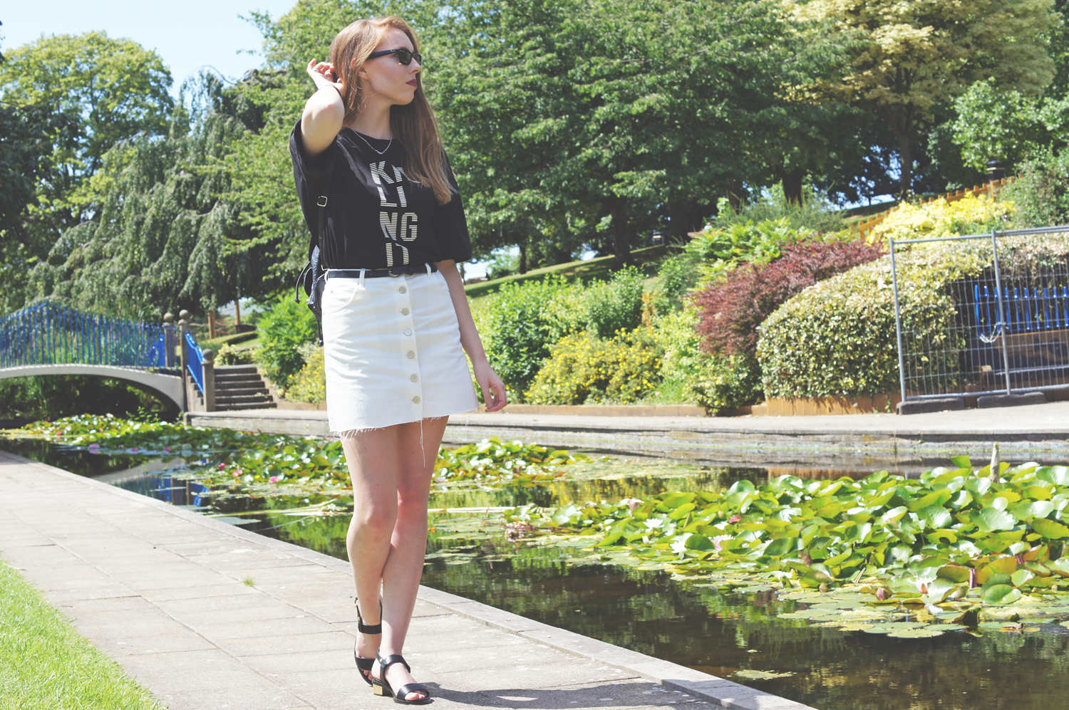 asos white denim skirt