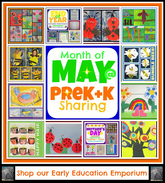 photo of: Month of May at PreK+K (Sharing Collaborative) Arts + Crafts + Music!