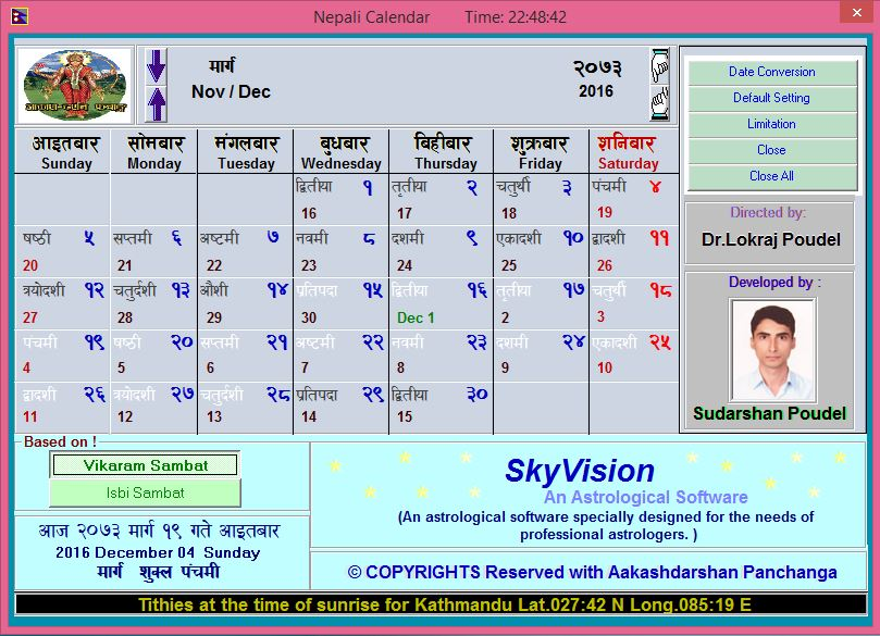 Download nepali calendar / patro 2072 (2015 / 2016) with nepali.