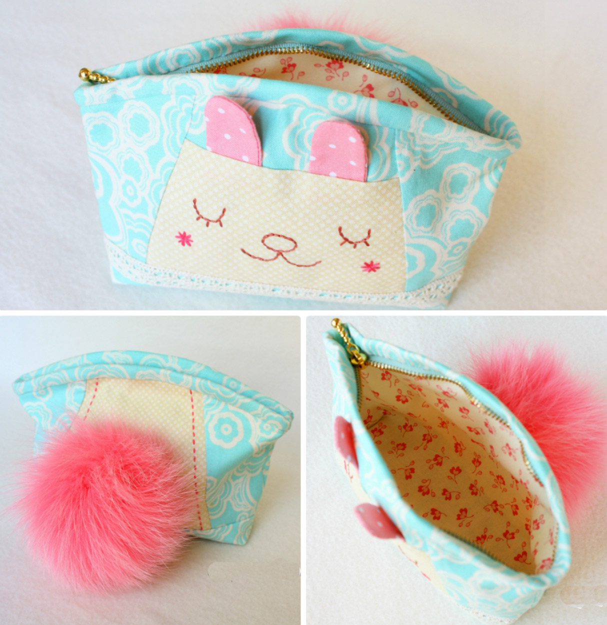 How to make tutorial vintage cosmetic bag coin. DIY Pattern & Tutorial in Pictures.