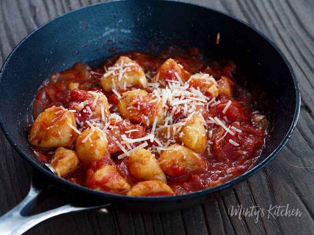 Pan-fried Ricotta gnocchi in Tomato Sauce