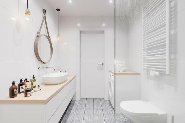 decoración lowcost, baño con zona de lavado
