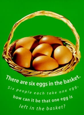 Lateral Thinking Brain Teaser-Eggs