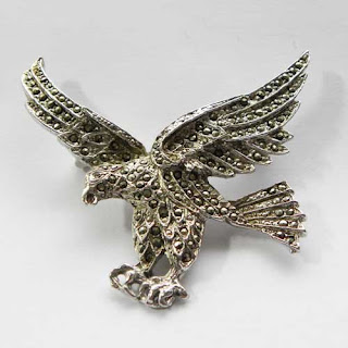 marcasite eagle brooch