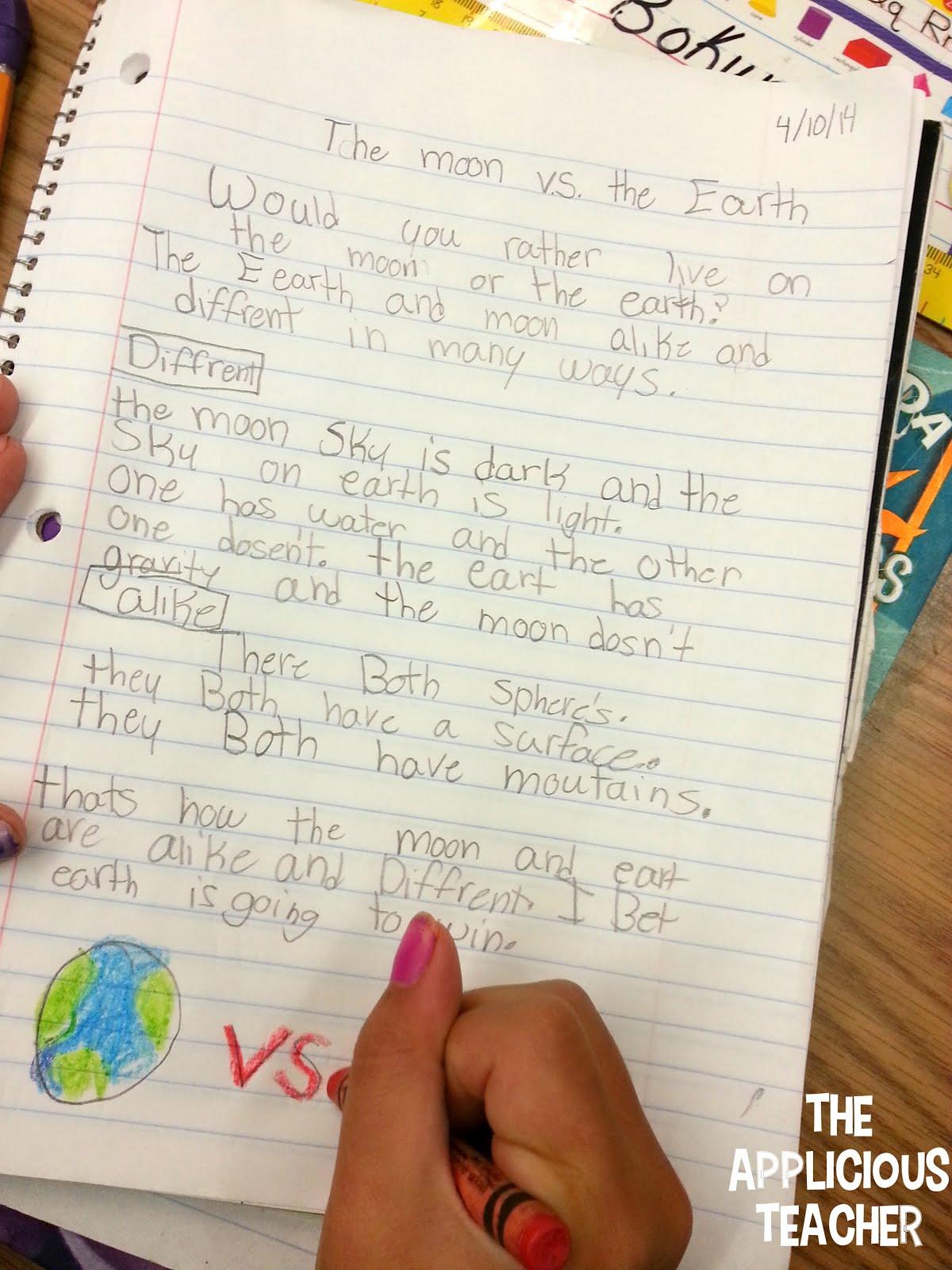 Moon Journal 3rd Grade