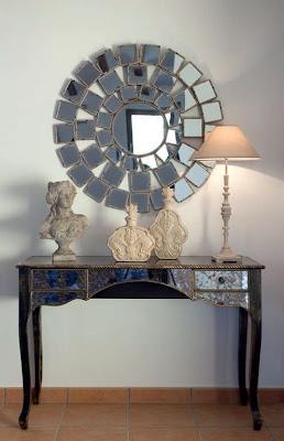 Consola vintage de espejos