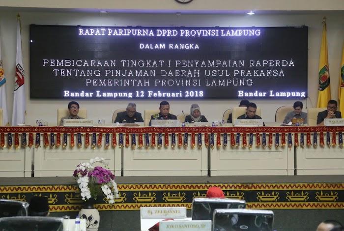 DPRD Provinsi Lampung gelar Paripurna Pengajuan Raperda Pinjaman Daerah.I