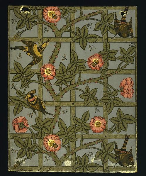 William Morris Trellis: Stalking The Belle Époque: The Home Beautiful: The William