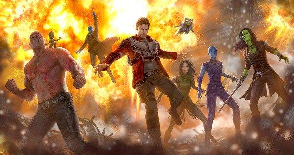 Star Lord et sa bande bad ass dans Les Gardiens de la galaxie 2