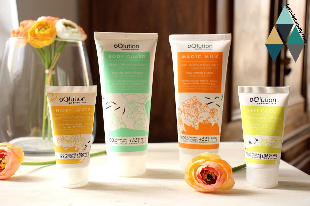 avis soins corps cosmétiques oolution bio naturel vegan