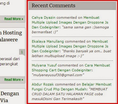 Membuat Recent Comments Di Blogger