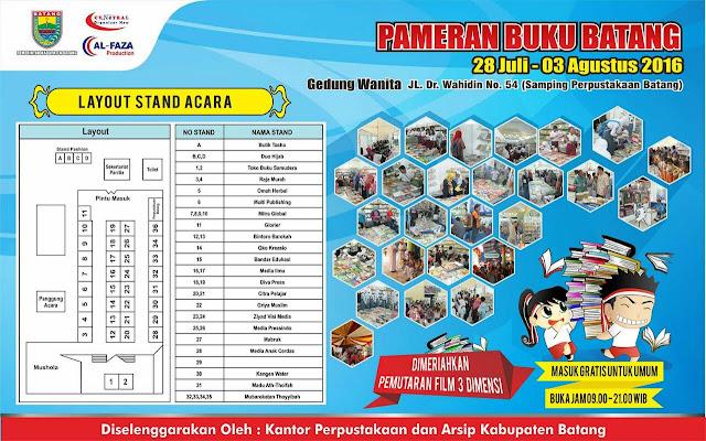 [Event] Batang 28 Juli - 3 Agustus 2016 | Kantor Perpustakaan dan Arsip Kabupaten Batang | Pameran Buku Batang 2016