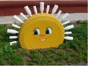 Resultado de imagen de decoracion con reciclaje para el jardín