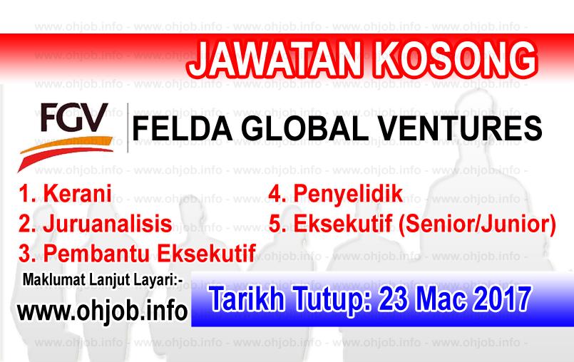 Jawatan Kerja Kosong FGV - Felda Global Ventures logo www.ohjob.info mac 2017