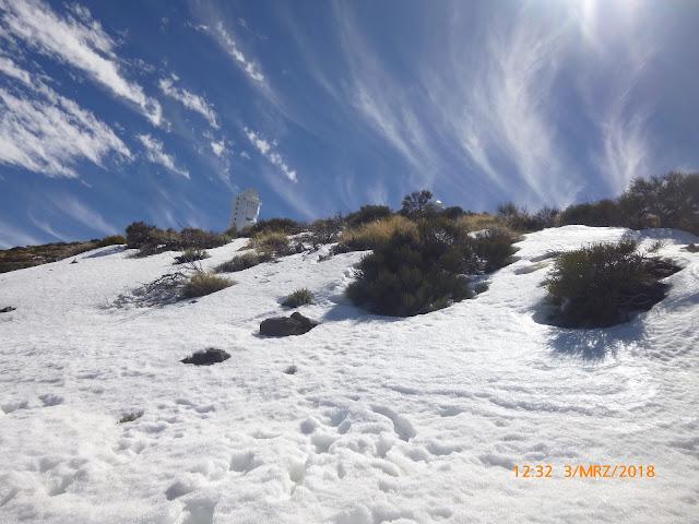 Schnee am Pico del Teide Teneriffa