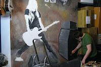 Malarstwo ścienne, mural Avril Lavigne, Warszawa